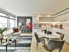 居外网在售英国伦敦1卧2卫的房产GBP 4,333 / 月