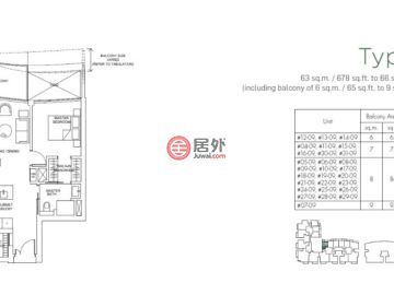 新加坡SingaporeSingapore的新建房产,Marina One Residences, 21 Marina Way,编号57167036