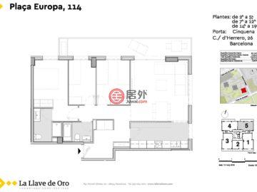 西班牙BarcelonaBarcelona的新建房产,Plaza Europa, 114,编号42869837
