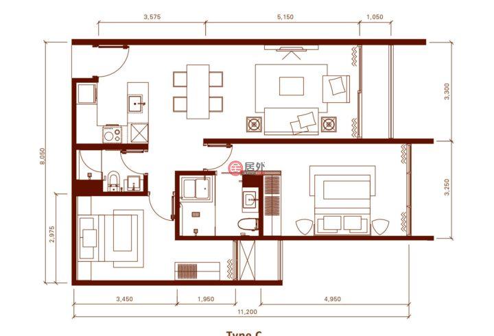 马来西亚Kuala Lumpur吉隆坡的房产,No.3, Lorong Stonor,编号54645245