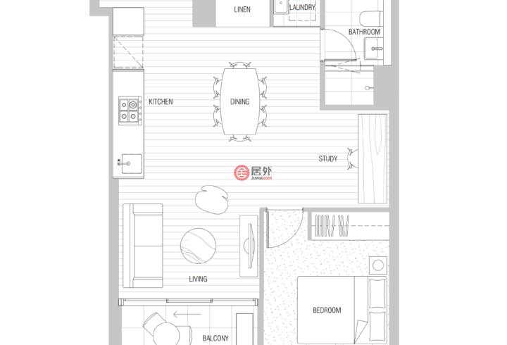 澳大利亚维多利亚州墨尔本的房产,编号57372244