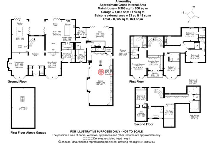 英国英格兰利兹的独栋别墅,Alwoodley,编号59956704