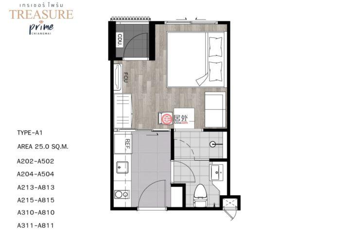 泰国清迈府清迈的房产,Treasure Prime,编号50389673