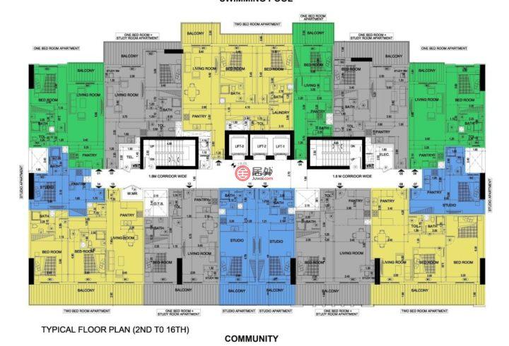 阿联酋迪拜迪拜的新建房产,编号46552214