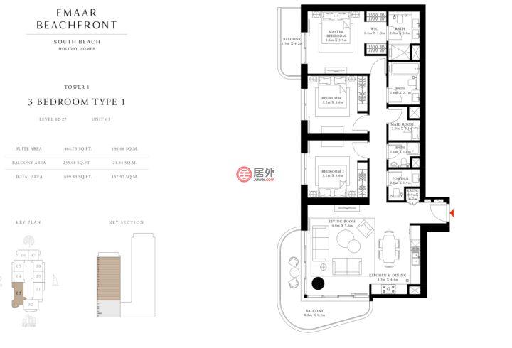 阿联酋迪拜迪拜的房产,holidayhomes,编号55794793