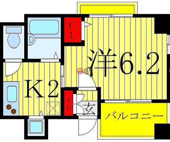 日本Tokyo Prefecture东京的公寓,西日暮里6丁目15-5,编号59952633