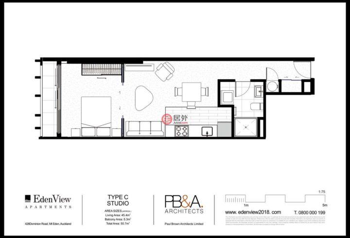 新西兰AucklandAuckland的房产,401/428 Dominion Rd,编号52917409