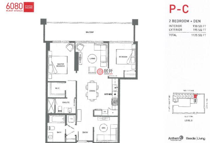 加拿大不列颠哥伦比亚省温哥华的房产,#301-6080 McKay Ave,编号46563555