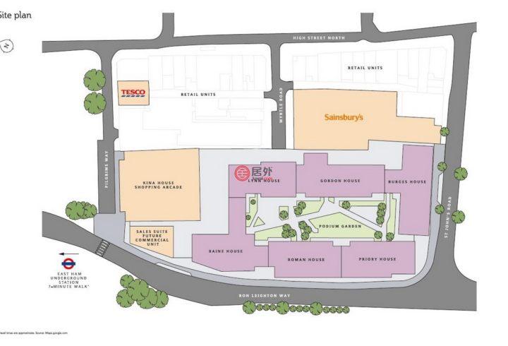 英国英格兰伦敦的房产,New Market Place, Sales Suite 5 Pilgrims Way E6 1HY,编号53213538