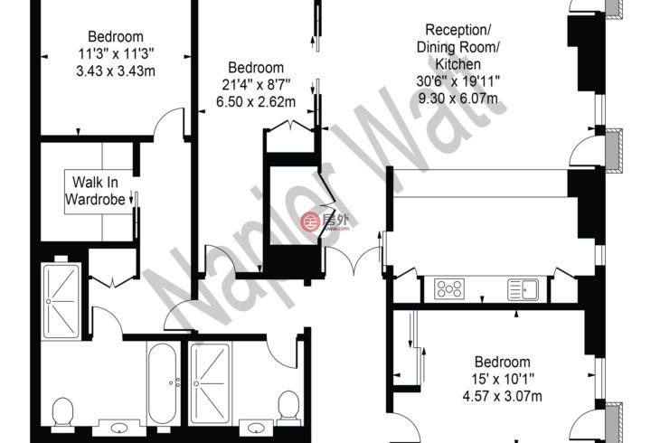 英国英格兰伦敦的公寓,Belvedere Gardens,编号59159158