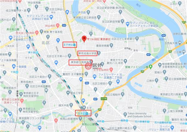 日本JapanTokyo的商业地产,东京都北区王子5-15-8,编号54954783
